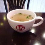 ハナダ ロッソ - セットのスープ