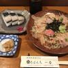そばんち一力 - 料理写真:彩り蕎麦とさばの棒寿司
