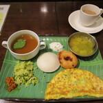 ケララの風モーニング - 料理写真:南インドの朝食(全部のせ)