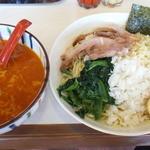 らーめん兜 - 辛トロ担々つけ麺(大)