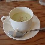 ブラッスリー ル トレフル キャトル - 枝豆の冷製スープ