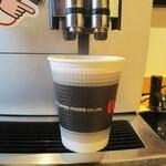 柿安デリカパーク - ドリンク写真:紙カップコーヒー ホットコーヒー 100円(税込)。     2020.07.01