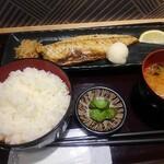 炙りの幸 - とろ鯖塩炭火焼定食 790円(税込)