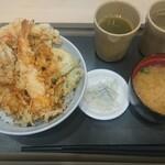 天丼てんや - 料理写真:鰹とあさりのかき揚げ天丼¥880-