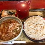 神明庵 甚五郎 - うどん 冷たい麺 肉汁