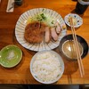 とんかつ ひやま - 料理写真:ロースカツ定食特大