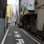 132567605 - お店は宮川町中通り会の路地にあります。