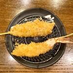 大阪串かつ テンテコマイ - えび、紅の豚