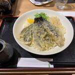 うどん処 松 - 料理写真:なす天ぶっかけ大盛①