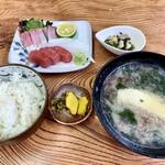 片山水産 - 刺身定食(¥1100-)