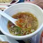 幸楽苑 - かちセットのスープ あちにくれた