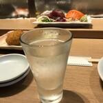 吉池食堂 - 日本酒、しゅん(350円)