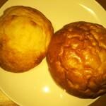 円麦ムーンベーカリー - じゃがいものフォカッチャ&塩バターパン