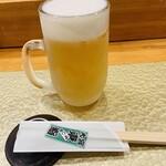 東鮨 新店 - 生ビール