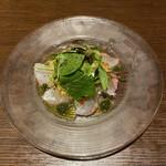 フォルトゥーナ - 料理写真:真鯛のカルパッチョ