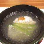 蕎麦割烹  倉田 - 鱧に梅肉載せ翡翠冬瓜