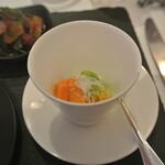 リストランテ カノフィーロ - リコッタチーズと枝豆 バフンウニ