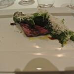 リストランテ カノフィーロ - 旭川産高砂牛カイノミ肉のグリーリア