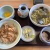 Sobanokanekyuusouhonten - 料理写真:そばのかね久総本店@美幌町 しょうが焼き丼セット(1000円)