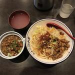 seiammensoushintouki - ヨウポー麺(麺大盛り)+ミニチャーシューそぼろ丼