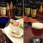 13262568 - [BAR-Time] ワイン、ブリティッシュ・ビール(バス・ペールエール)、ブレンデッド・スコッチ(バランタイン)