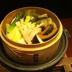 味竜 - 蒸し野菜