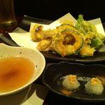 味竜 - 野菜三種盛り 天ぷら