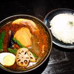 ラグーン - ベーコンスープカレー(スープ大盛り)+ライス(M)