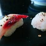 琉球回転寿司 海來 - アカマチ、イラブチャー