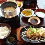 ginsharitokyuushuuumaimonnomisekuroan - 桜島鶏のステーキ定食