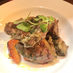 大衆食堂 瓦町ブラン - 豚頰肉の炙り ジェノベーゼソース