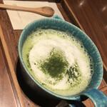 132628559 - 挽き立て緑茶ラテ 茶葉1.5倍