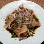 中国料理酒家 中 - ゆでたて豚しゃぶの特製ニンニク醤油