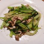 中国料理酒家 中 - 青菜のシャキシャキにんにく強火炒め