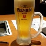JA全農ミートフーズ直営 焼肉ぴゅあ - 生ビール:540円+税
