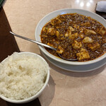 132649157 - 麻婆豆腐とライス