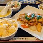 紅虎餃子房 - 鶏肉の野菜醤油炒め定食(日替りランチ)