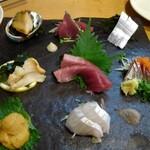 魚男 - 刺身盛合せ+ウニ