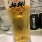 寿司 魚がし日本一 - ちょい呑みセットの生ビール