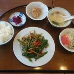 諏訪飯店 - 青椒肉絲ランチ