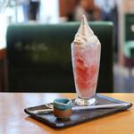 甘味喫茶 おかげ庵 - ドリンク写真:飲むかき氷 ごくしゃり さくらんぼ☆