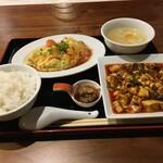 Mashinoken - 四川麻婆豆腐ランチ(トマトと玉子のフワトロ炒め)