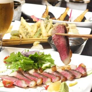 広島名物コーネをステーキに!宮崎牛の旨味たっぷりの一品です♪