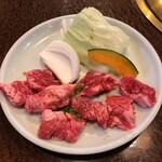 焼肉 咲咲亭 - 料理写真:中落ちサイコロ定食