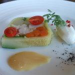 13269973 - 野菜と魚介のテリーヌ