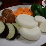 ホルモン焼肉 しあわせや - 焼き野菜