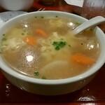 ホルモン焼肉 しあわせや - たまごスープ