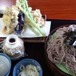 13270314 - ざるそば+野菜天ぷら