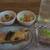ちょっと寄り道 ほほえみ - 料理写真:晩酌セット 1,600円(税抜)。この他にも3品来ました
