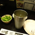 居酒屋 一休 - トリハイとお通しの枝豆